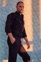 cuffed linen shirt and linen pants